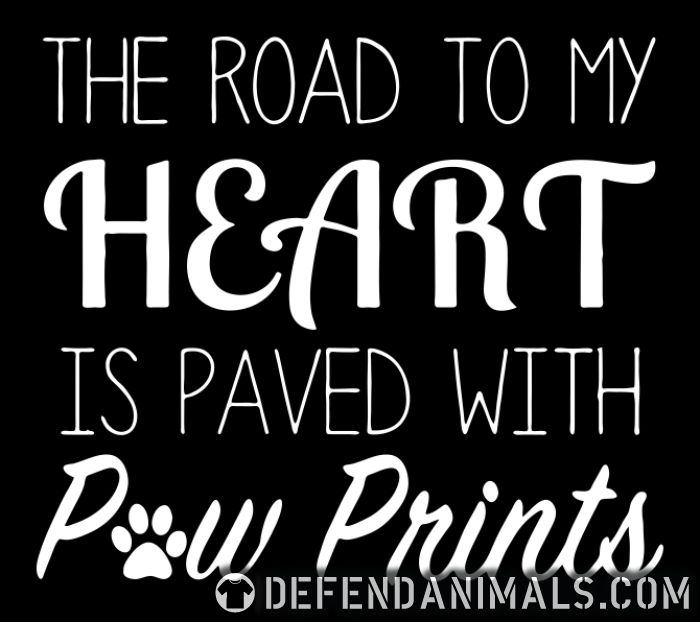 The road to my heart is paved whit paw prints - Dogs Lovers Women Organic T-shirt