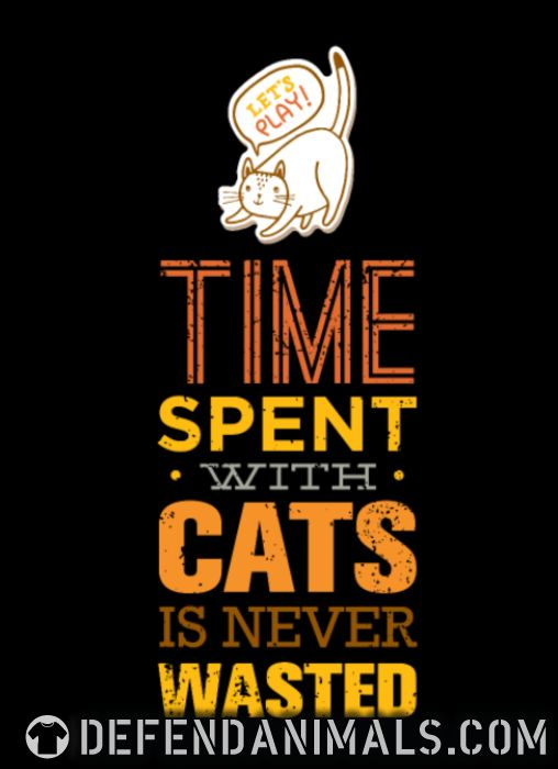 Time spent with cats is never wasted  - Cats Lovers Kids t-shirt