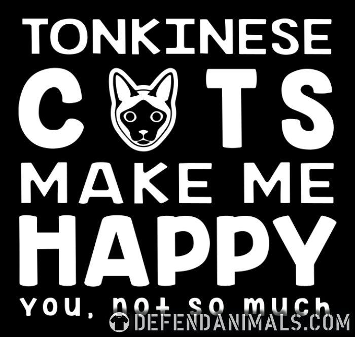 Tonkinese cats make me happy. You, not so much. - Cat Breeds Women Organic T-shirt