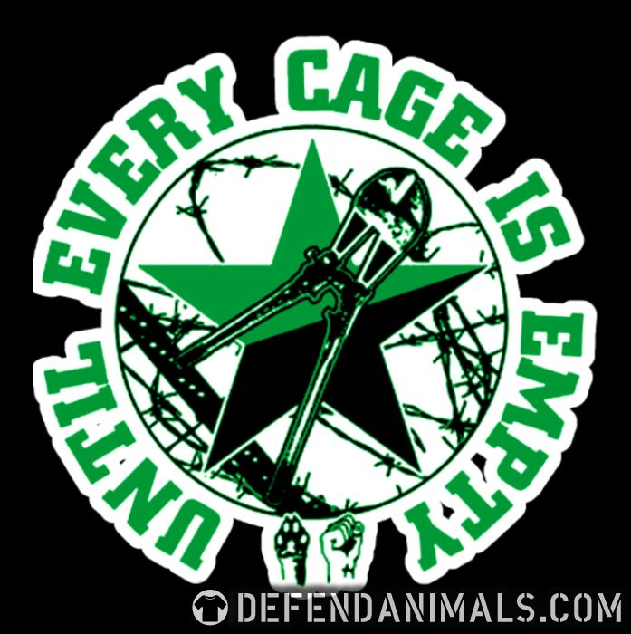 Until every cage is empty  - Animal Rights Activism T-shirt