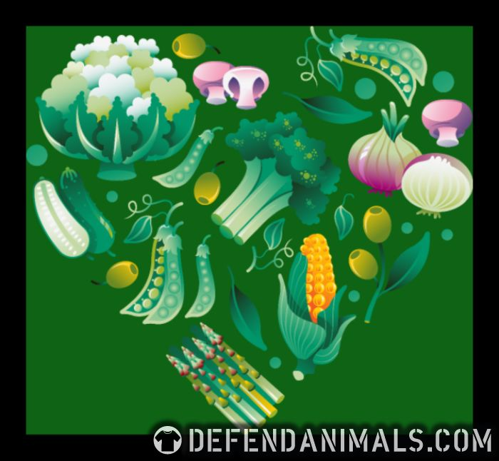 Vegetable heart - Vegan T-shirt