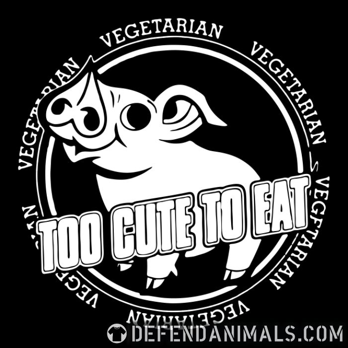 Vegetarian - too cute to eat  - Vegan Women Organic T-shirt