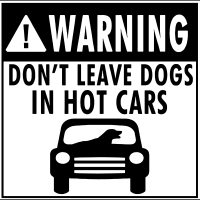 Warning don't leave dogs in hot cars  - Dogs Lovers T-shirt