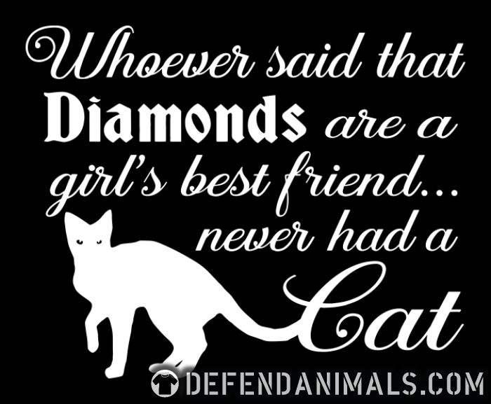 Whoever said that diamonds are a girl,s best friend ... never had a cat  - Cats Lovers Women Organic T-shirt