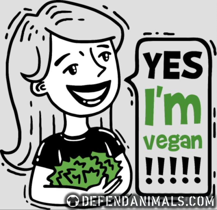 Yes i'm Vegan  - Vegan Women Organic T-shirt
