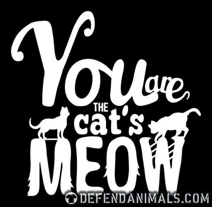 You are cat's meow - Cats Lovers Women Organic T-shirt