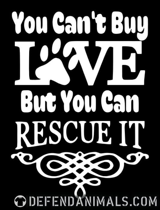 you can't love but can rescue it  - Dogs Lovers Women Organic T-shirt