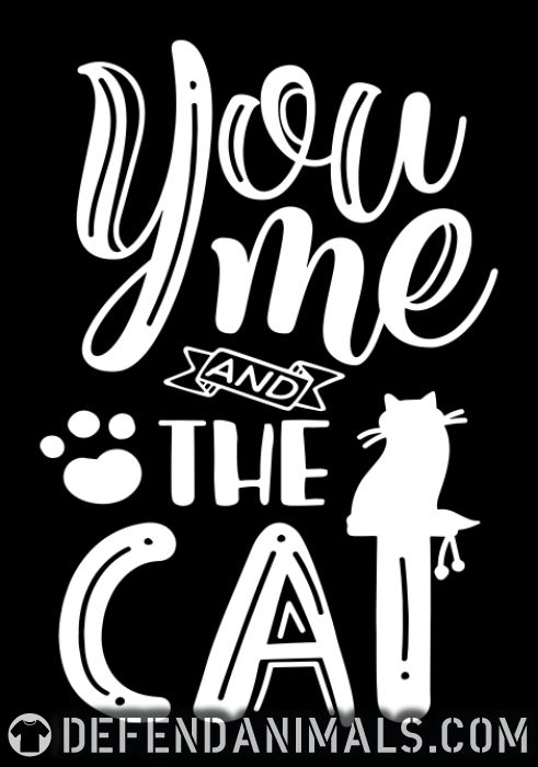 you me and the cat  - Cats Lovers Women Organic T-shirt