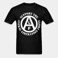 T-shirt Support animal liberation front