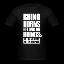 Rhino horn belong on rhinos not in medcine not on trophies