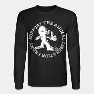 Long sleeves support the animal liberation front