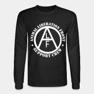 Long sleeves animal liberation front support crew