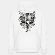Hooded Sweatshirt bird face howl