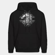 Hooded Sweatshirt Bird face Eagle