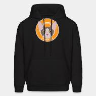 Hooded Sweatshirt Cornish Rex Cat