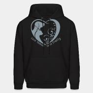 Hoodie Love animals hate cruelty