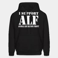 Hooded Sweatshirt I support Animal liberation front