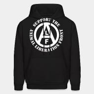Hooded Sweatshirt Support animal liberation front