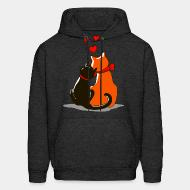 Hooded Sweatshirt Cat in love