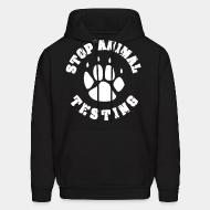 Hooded Sweatshirt Stop Animal testing