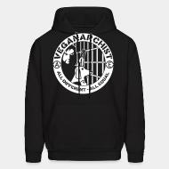 Hooded Sweatshirt Vegan anarchist all different all equal