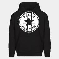 Hooded Sweatshirt Vegan all star defend animals