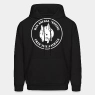 Hooded Sweatshirt Ban animal testing free the animals