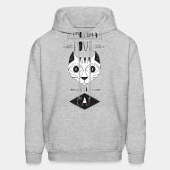 Hooded Sweatshirt All you need is love and a cat