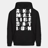 Hooded Sweatshirt Animal liberation