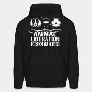 Hooded Sweatshirt Animal liberation direct action