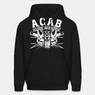Hooded Sweatshirt A.C.A.B. all cats are beautifful