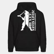Hooded Sweatshirt the alf save lives! animal liberation front