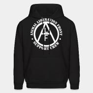 Hooded Sweatshirt animal liberation front support crew