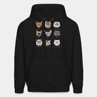 Hooded Sweatshirt Persian / Maine coon / Exotic Shorthair / british / stanese / bengali / siberian / scotthish fold