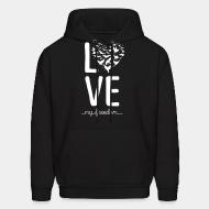 Hooded Sweatshirt love my freedom