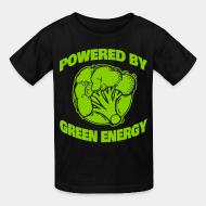 Children t-shirt powered by green energy