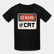 Children t-shirt Bewear of cat