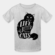 Kid tshirt Life is better with cats