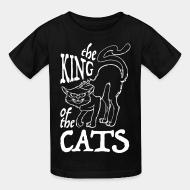 Kid tshirt The king of the cats