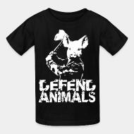 Children t-shirt Defend animals