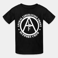 Children t-shirt animal liberation front support crew