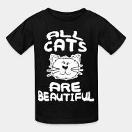 Kid tshirt all cats are beautiful