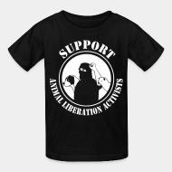 Children t-shirt support animal liberation activists