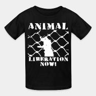 Kid tshirt Animal liberation now !