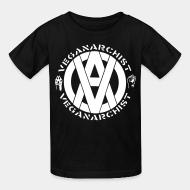 Kid tshirt Vegan anarchist