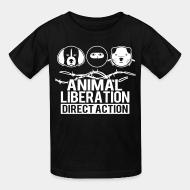 Children t-shirt Animal liberation direct action