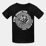 Children t-shirt stop vivisection animal liberation now!