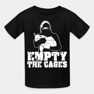 Children t-shirt Empty the cages