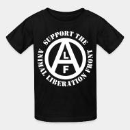 Kid tshirt Support animal liberation front