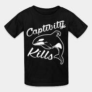 Children t-shirt Captivity kills